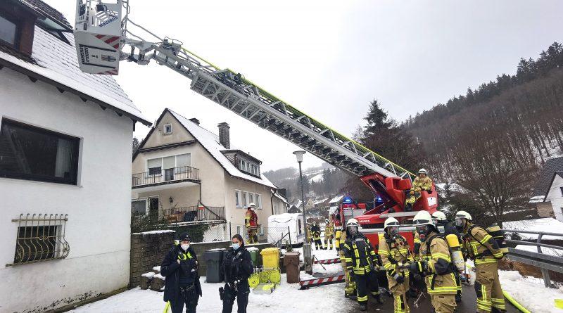 Feuerwehreinsatz in Attendorn-Neuenhof